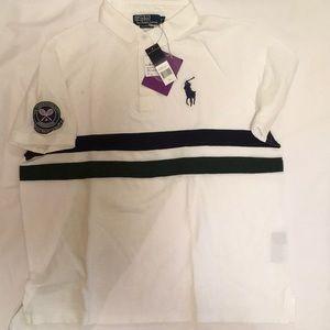 Men's Polo white cotton collared shirt, XL